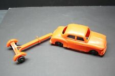 Vintage LIDO plastic 1950 Ford / Mercury sedan toy with trailer USA ORIGINAL!