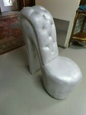 FRANCE SHOE STYLE HIGH CHAIR SILVER # F10MB15