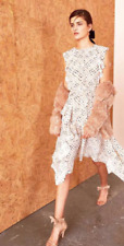 New Ulla Johnson Women's Dress Ivory Cream Gold US 8 L Silk Dorothea Midi