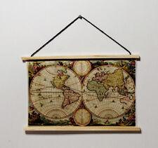 1 Landkarte antiques Design 1:12 Puppenstube Puppenhaus Bild Gemälde