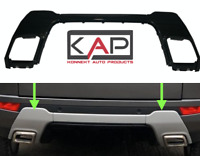 RR Evoque Dynamic 2011-18 Rear Bumper Insert Tow Eye Panels Inc Centre in Black