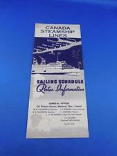 CANADA STEAMSHIP LINES ADVERTISING BROCHURE SAILING SCHEDULE RATES 1934