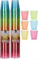 Confezione di 96 Luminoso Colorato Plastica Monouso Bicchierini 30ml
