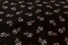 Baumwolle Stoff Meterware Blumen Tracht Dirndl 25cm schwarz