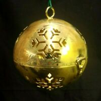 LENOX GOLD TONE GIVING BALL CHRISTMAS ORNAMENT FRIEND TO FRIEND YEAR AFTER YEAR