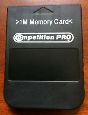 COMPETITION PRO BLACK 1MB MEMORY CARD FOR SONY PS1 PSONE PLAYSTATION