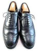 "Allen Edmonds  ""MCALLISTER"" Wing-Tip Mens Oxfords  8 D  Black Made in USA  (441)"