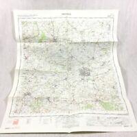 1968 Vintage Militare Mappa Di Swindon Chippenham Calne Wootton Bassett Lyneham
