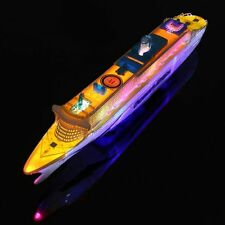 Electric Ocean Liner Toy Flashing Light Music Cruise Ship Boat Gift For Kids