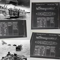 Rare WWII 1942 Classified British D-Day Landing Craft TLC II Blueprint Lot Relic