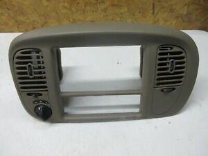 1998-02 LINCOLN NAVIGATOR DASH TRIM BEZEL RADIO AC 4x4  switch Tan Brown