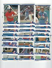 1984 Fleer Montreal Expos Team Set