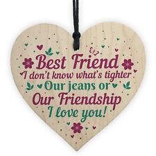 Christmas Gift For Best Friend Wooden Heart Keepsake Friendship Gifts Thank You