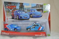 "Disney Pixar CARS WGP "" RAOUL CaROULE & BRUNO MOTOREAU "" SET Of 2 NIP"