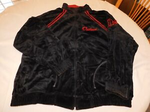 Outkast C1o.Co. Men's Velour Zip Up Jacket Size 2XL xxlarge Black Pre-owned GUC