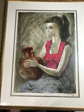 "Rare Benton Spruance 1955 ""Water Jar"" Lithograph - Ed 25 - Signed And Framed"