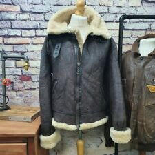 B3 Ltd Edition Chevigon Real sheepskin fleece shearling bomber flight jacket XXL