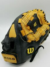 "Wilson  A350 12.5"" Inch Left Hand Glove Genuine Leather Baseball Glove Mitt"