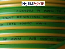 1.0mm² Tri Rated Panel Auto Earth Cable 21a 12v 240v  Green/Yellow By the Metre