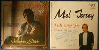 Mel Jersey 2 Singles mit Widmung und Autogramm H17216
