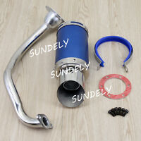 Performance Exhaust System Muffler Short Blue for GY6 50-150cc Chinese Scooters