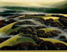 "Eyvind Earle ""WHEN THE FOG ROLLS IN"" Original Serigraph S/N"