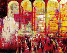 "LEROY NEIMAN BOOK PRINT ""METROPOLITAN OPERA"" LINCOLN CENTER NEW YORK GALA NIGHT"