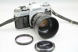 CANON AE-1 CAMERA, LENS, CLAD, SEALS SR. 400947 - NO SQUEAL, TESTED
