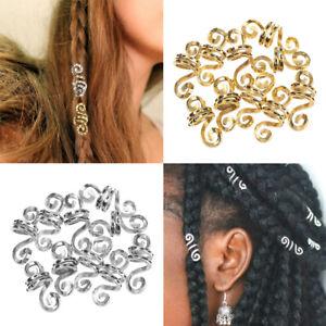 Schmuck Braid Dreadlock Clips Perücke Perlen Tube für Haare Haarsträubchen