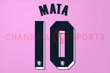 Mata #10 2011-2012 Chelsea UEFA Champions League Awaykit Nameset Printing