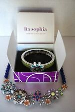 Lia Sophia Necklace & Bracelet Set ~ Full Bloom ~ New w/o Tags