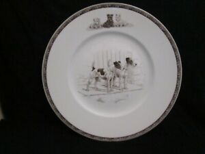 VINTAGE WEDGWOOD SPORTING DOGS PLATE - SMOOTH & WIRE FOX TERRIER  1950's  RARE