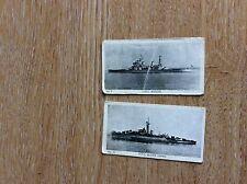 72-3 2 x rare trade cards sunny boy British naval series has anson black swan