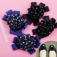1Pair Rhinestone Crystal Beads Bows Shoe Sandal Clips Fit for Women Charm Décor