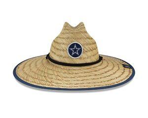 Dallas Cowboys New Era 2020 NFL Summer Sideline Official Training Straw Hat