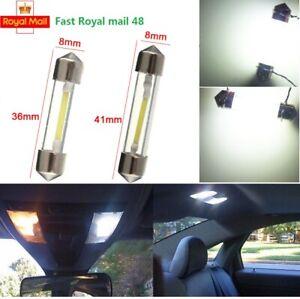 Car Bulbs LED C5W Lights Sidelight Festoon Interior 36-42mm Number Plate White
