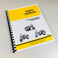 Parts Manual For John Deere G Gn Gw Gh Tractor Catalog Assembly Exploded Views