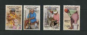 G004 P. D. R. Yémen 1980 Artisanat 4v. MNH
