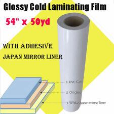 54 X 50yd Roll Glossy Cold Laminating Film Laminating Rolls Sheets 315 Mil