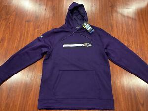 Under Armour Men's Baltimore Ravens Storm Combine Authentic Hoodie Sweatshirt XL