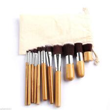 Vander Fashion Pro Beauty 11Pcs Bamboo Handle Cosmetic Blush Makeup Brushes Set