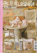De fil en aiguille N°22 HS point croix Atelier brodeuse V. Enginger, C. Lacroix