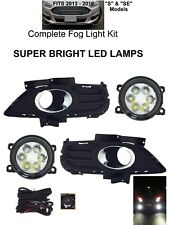 CLEAR BRIGHT LED FOG LIGHTS LAMPS KIT FOR 2013-16 FORD FUSION S, SE DOT HARNESS