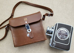 Vintage Bell & Howell FILMO Auto-8 Movie Camera with Case