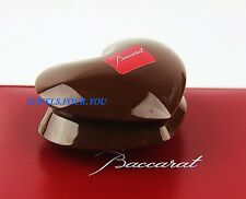 BACCARAT FRANCE PAPERWEIGHT ZINZIN CHOCOLATE HEART LTD SIGNED FRANCE NEW BOX