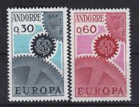 Andorra postfrisch französische Post Europa CEPT 1967 MiNr. 199-200