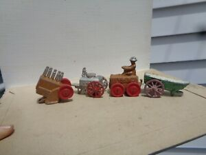 Manoil Barclay military tractor field kitchen  lot of 5, vintage lead toys, JJ