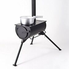 Portable Wood Burning Stove For Bell Tent Tipi- With Free Carry Bag.