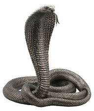 "Large King Cobra Statue Sculpture Figure 13"" Tall - WELL-MADE MUST SEE!"