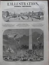 L'ILLUSTRATION 1865 N 1173 PLACE DE LA CONCORDE PARIS